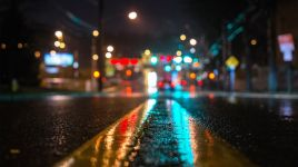 wet road